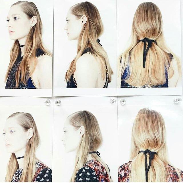 Mary Katrantzous Spring 2016 show hair