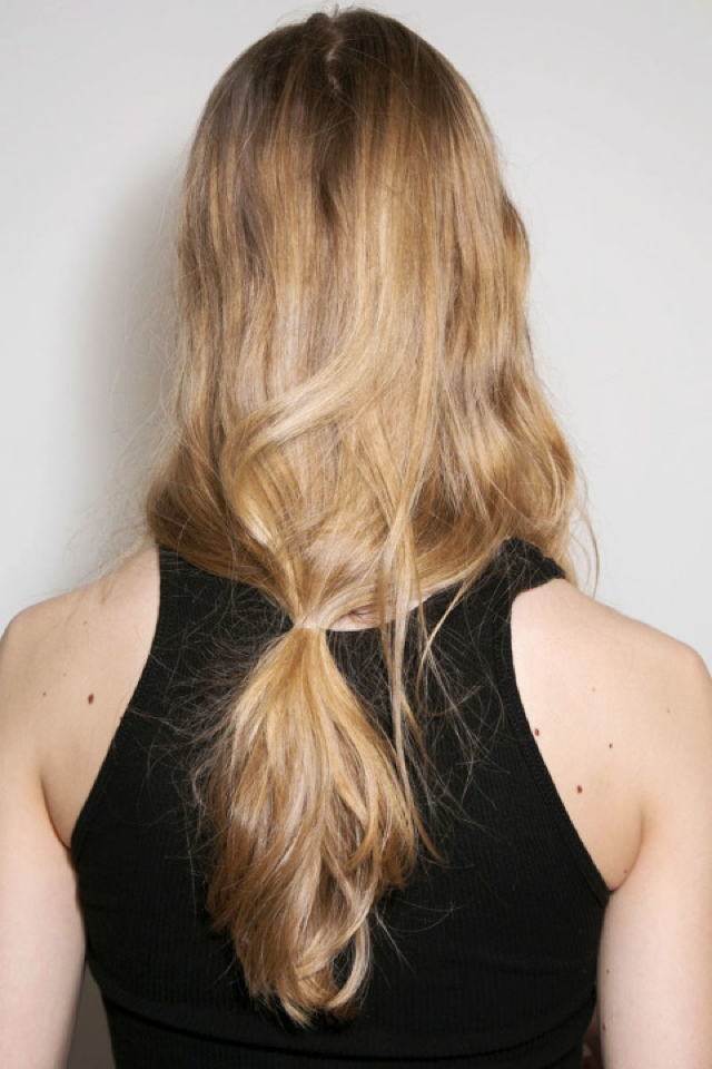 Michael Kors fall 2015 trends low ponytail