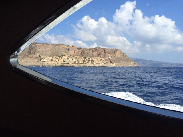 Monemvasia from sea