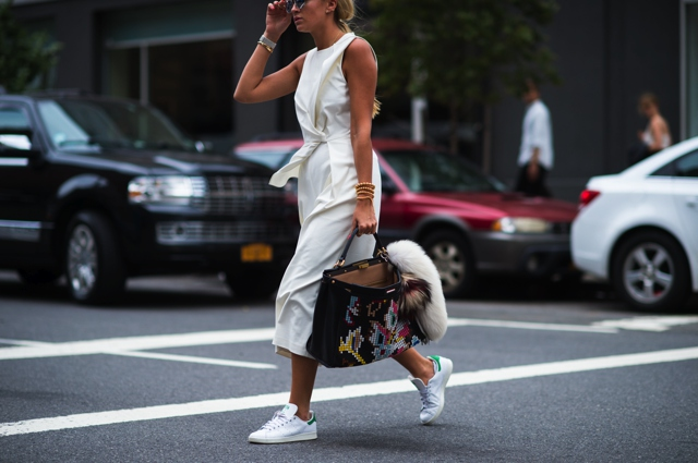 everyday style New York Fashion Week adidas stan smith