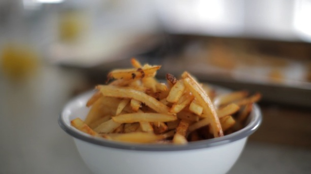 oven backed french fries