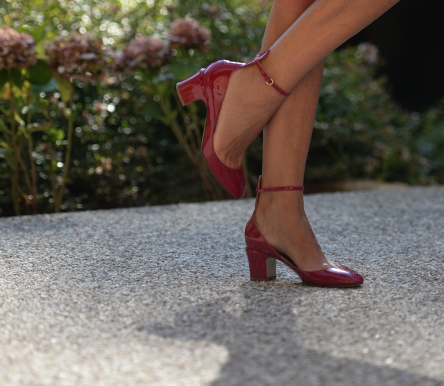 Valentino tango pumps red street style