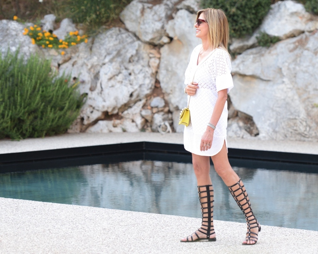 Whites Gladiator sandals Stuart Wetzman
