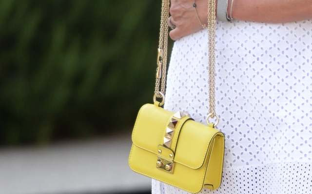 Yellow mini lock Valentino