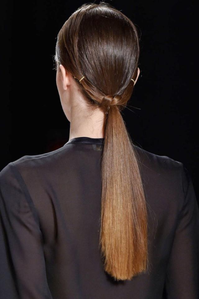 twisted braid low ponytail