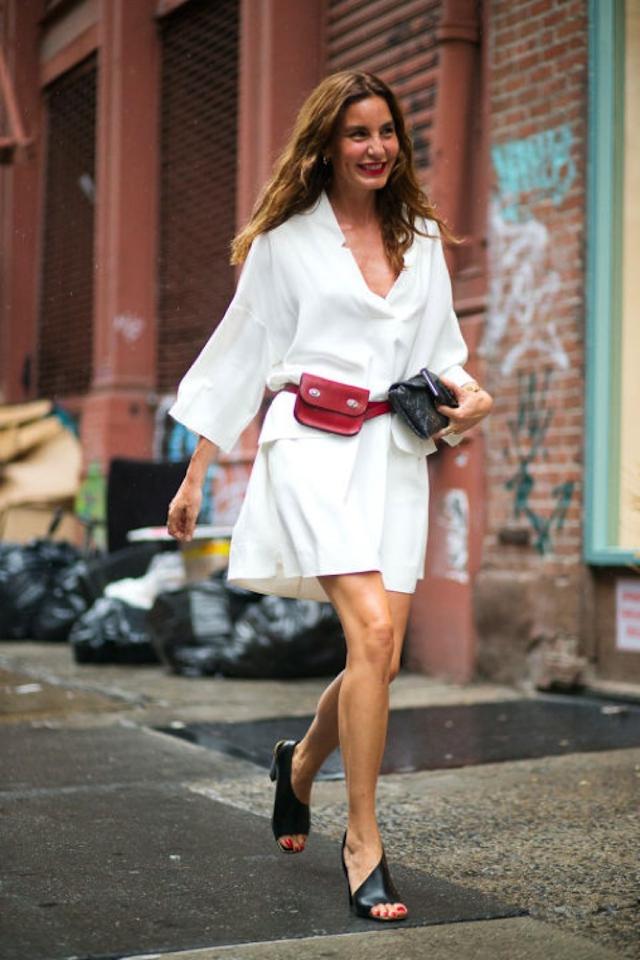 NYFW street style belt bag