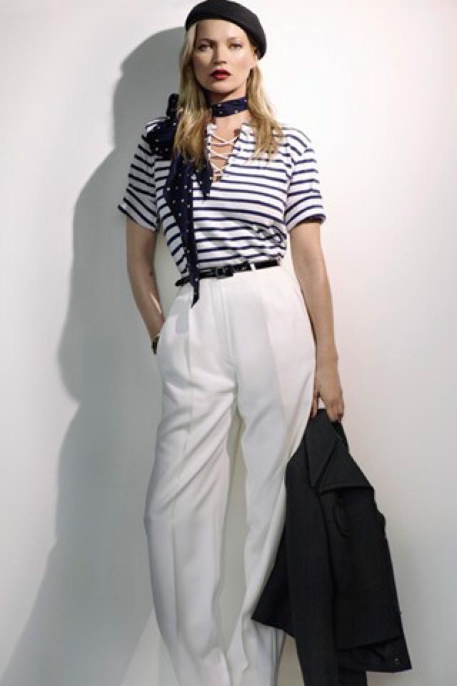 Kate Moss silk narrow scarf Mario Testino