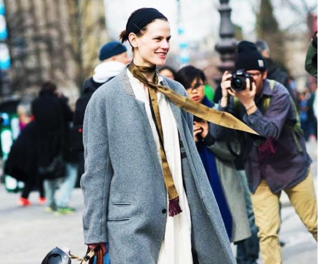 01d5f5e7f4f7 street style skinny scrf grey oversized coat