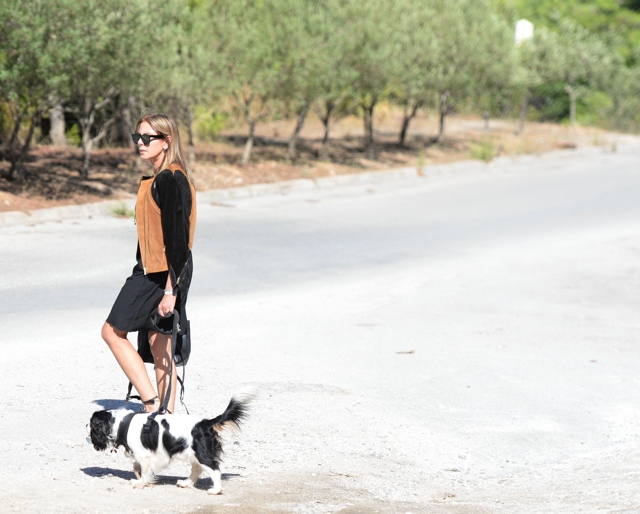 Dog walk outfit LBD