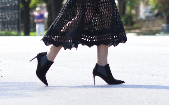 Saint Laurent Paris ankle boots street style