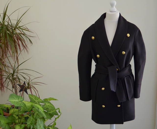 Balmain HM mens better for women coat gold buttons