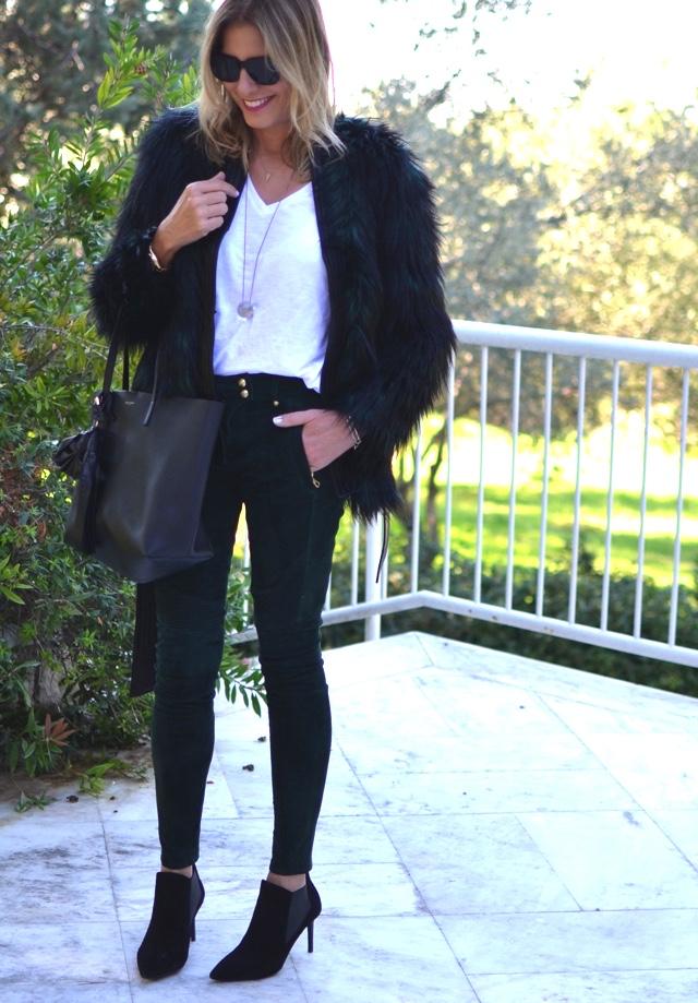 Balmain for H&M green leather pants hmbalmaination