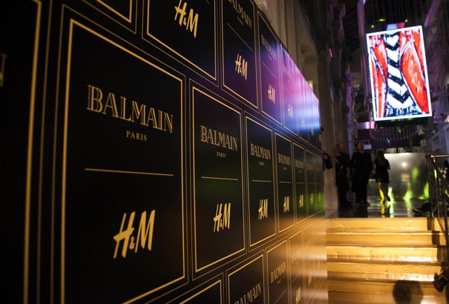 HM Balmain pre-launch party Athens, Greece