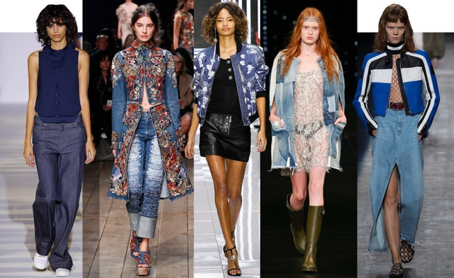 denim-trend-Spring Summer 2016 runway
