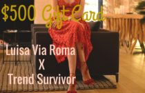 Win $500 Gift Card International Giveaway | Happy Holidays from Luisa Via Roma X Trend Survivor