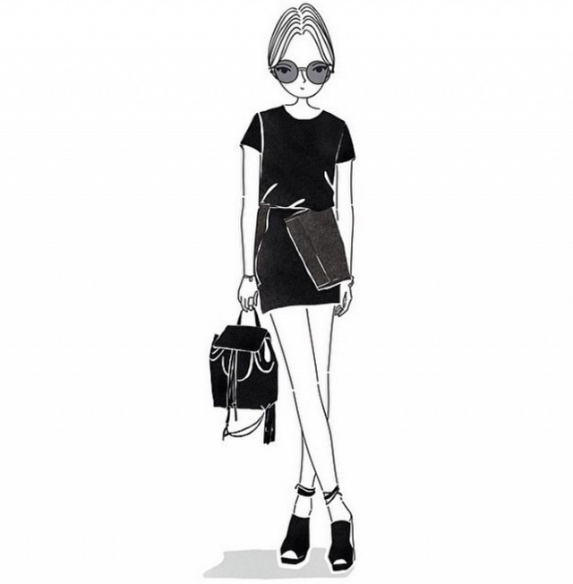 fashion editors illustrations