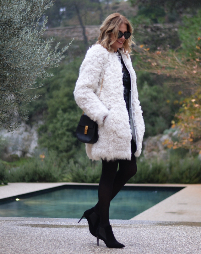 Isabel Marant white fur coat