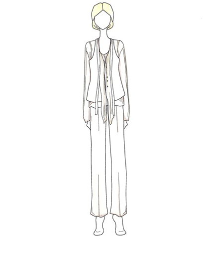 Elen DeGeneres wedding gown illustration