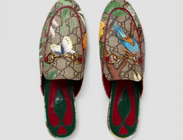 GG supreme Tian Gucci loafers Princetown