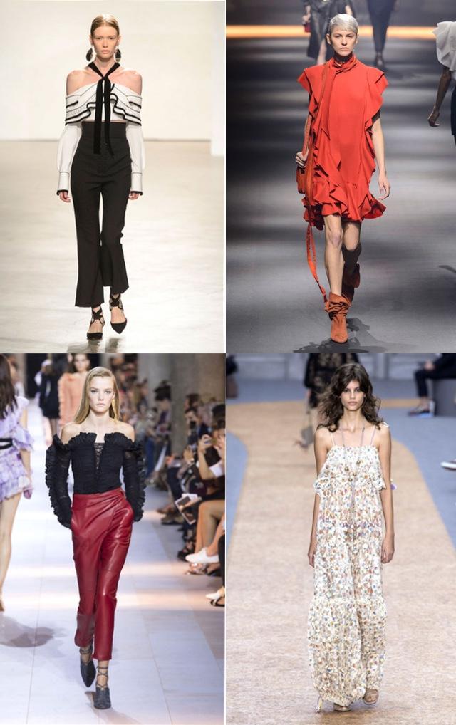 Key ss trends Ruffles Proenza Schouler, Lanvin,Roberto Cavalli, Chloe