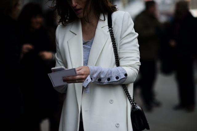 white tailored jacket New York Fashion week