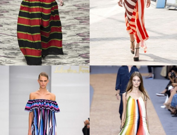 Stripes Key Trends SS 2016 Gucci Jonathan Saunders Salvatore Ferragamo Chloe runway collage