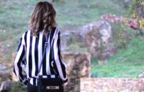 A new black and white striped shirt, Please