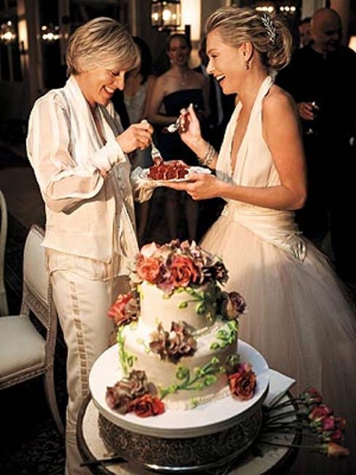 Ellen Degeneres and Portia de Rossi wedding cake