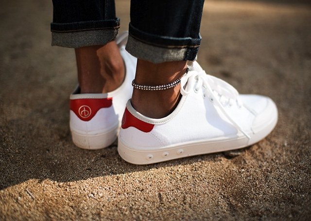 rag and bone sneakers white red