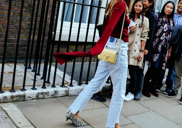 street style raw hem jeans
