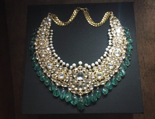Diamonds and emerald necklace The National Museum New Delhi