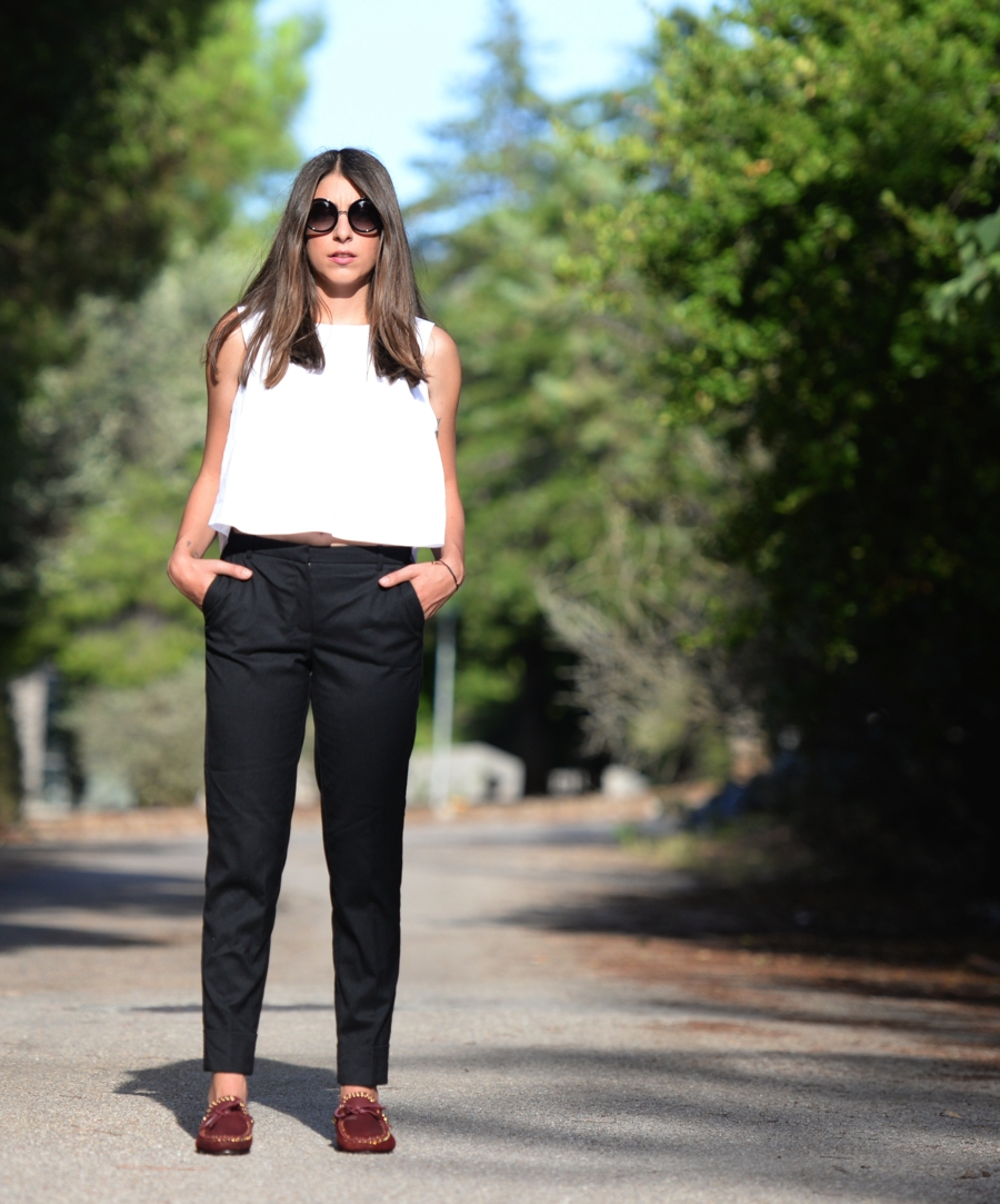 How to wear black pants ISABEL MARANT Etty Suede flats