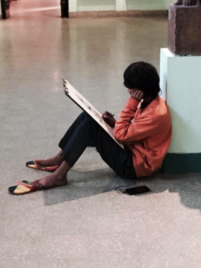 India Museum art student