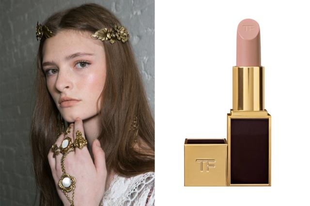 Pale nude lipstick