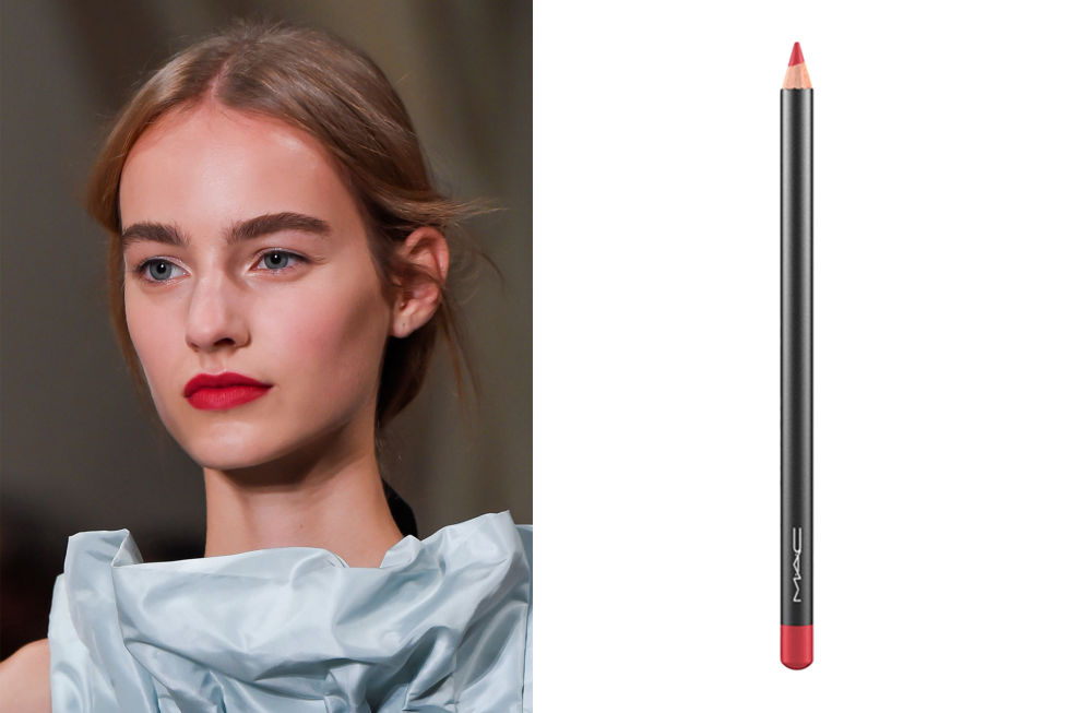 red pink lip pencil Spring Summer 2016