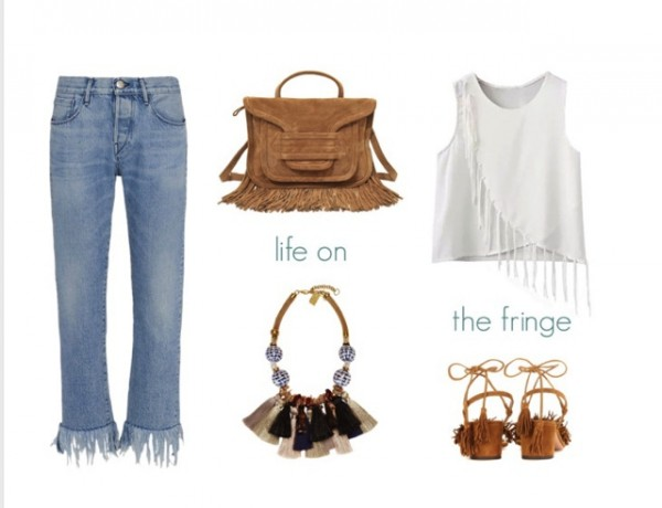 3×1.us fringe jeans collage, Aquazzura block fringe shoes