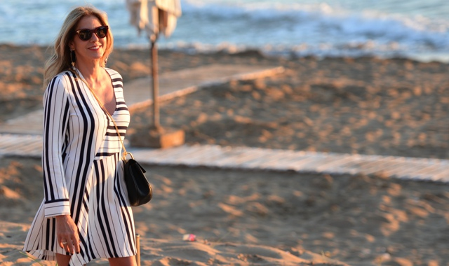 Celine Teddy sunglasses Trendsurvivor striped shirt dress