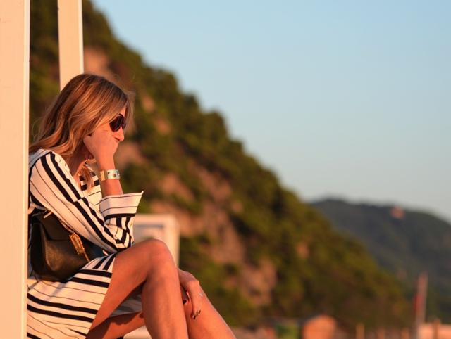 Celine Teddy sunglasses stripes