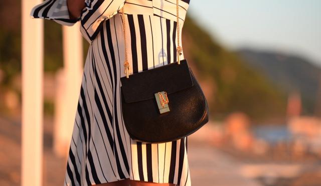 Chloe black small drew bag Trendsurvivor blogger style