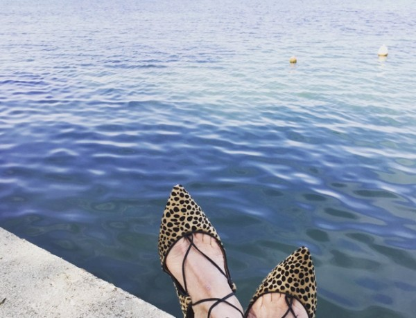 Christy ballerina Aquazzura leopard calf hair flats