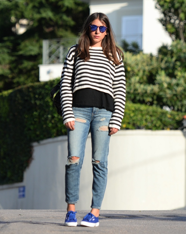 Effortless Casual Chic Striped Sweater Street Style03