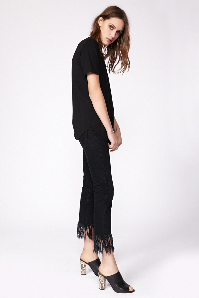 Fringed jeans black