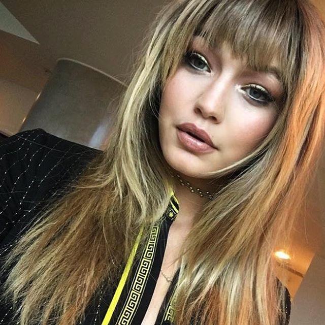 GiGi Hadid faux fringes