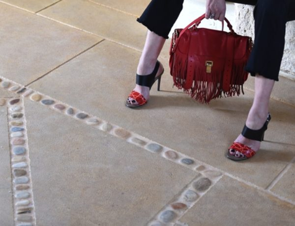 Proenza Schouler fringe bag PS1 red street style TrendSurvivor