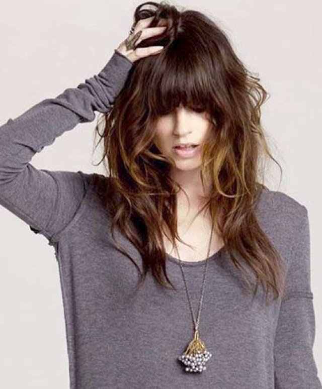 Hairstyles For Long Hair With Bangs Combined Your Creativity Will Make This Look Chic 19