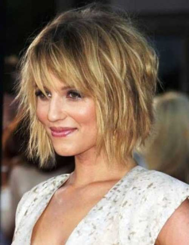 Blonde Messy Layered Bob