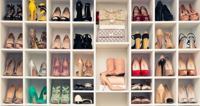 shoe closet well organized