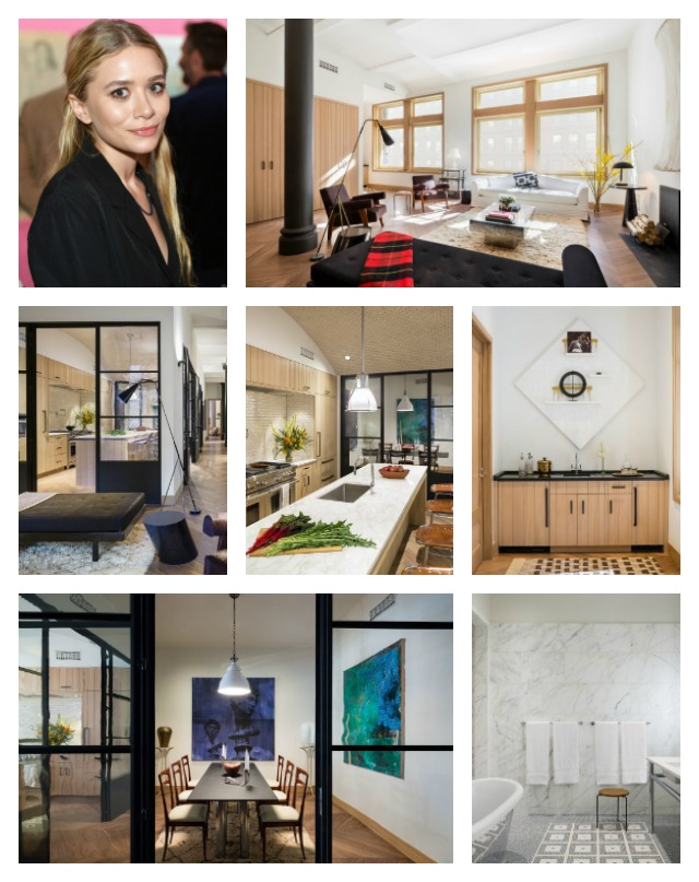 celebrity homes interior design ideas Ashley Olsen new Manhattan Condo