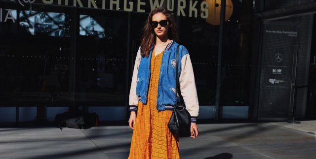 Australia Fashion week Bomber jacket with dress
