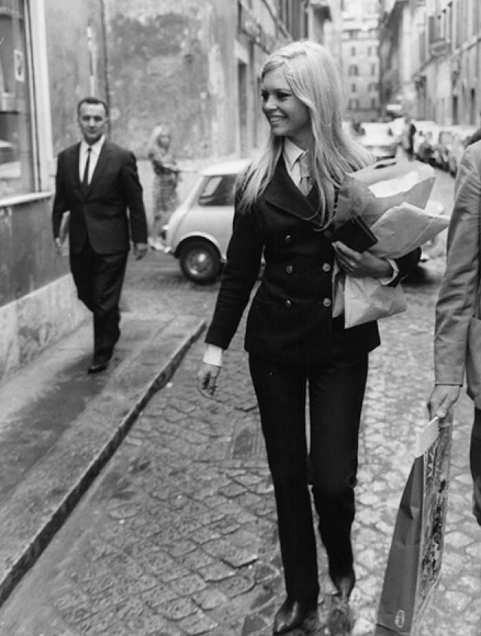 Brigitte Bardot androgynous style